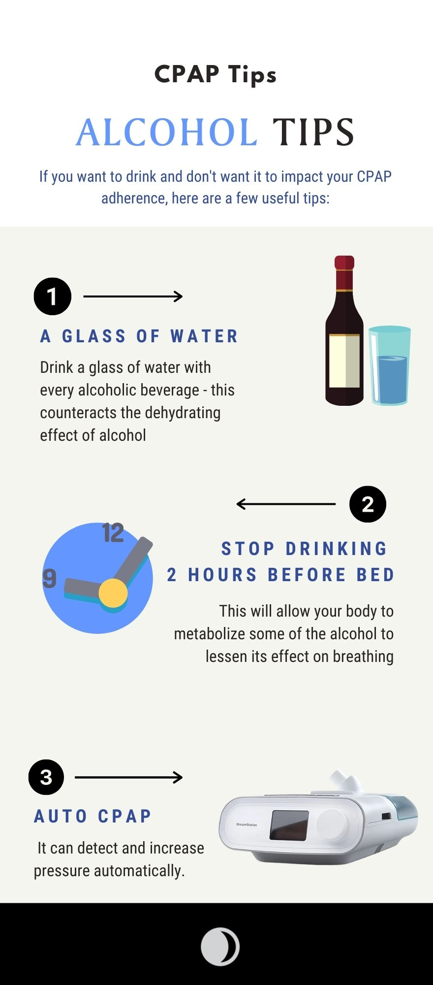cpap alcohol tips